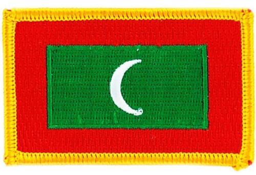 Patch écusson brodé Drapeau MALDIVES  Thermocollant  Insigne Blason
