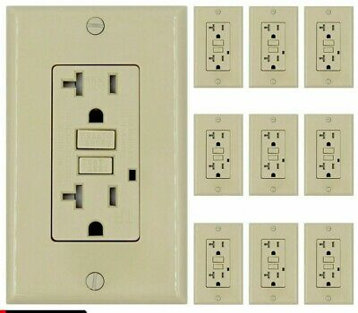 20 AMP GFCI Receptacle Outlet Tamper Resistant  IVORY  UL Listed GFI 50Pack