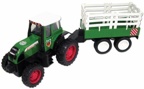 Team Power 40cm Friction Tractor and Trailer