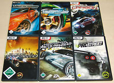 6 PC Giochi Set Need for Speed Underground 1 & 2 PRO STREET CARBON Most Wanted