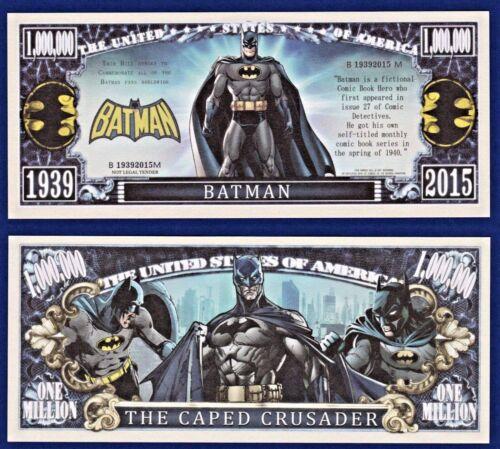 FAKE C3 MONEY Collectible 1-Batman Dollar Bill Novelty
