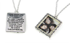 4031460 Serenity Prayer Picture Frame Locket Style Necklace Family Loved One ...