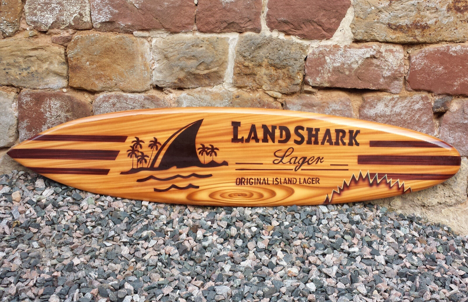 SU 100 N10 P (du)   Deko Surfboard Surfboard Surfboard , Surfbrett, 100cm Holz Dekosurfboard retro 7e2fa3