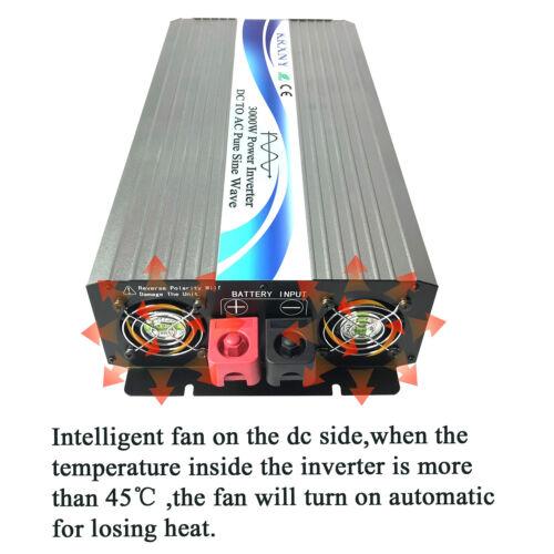 Power Inverter Off Grid 2500W Peak 5000W Pure Sine Wave 12V//24V//48V DC 120V AC