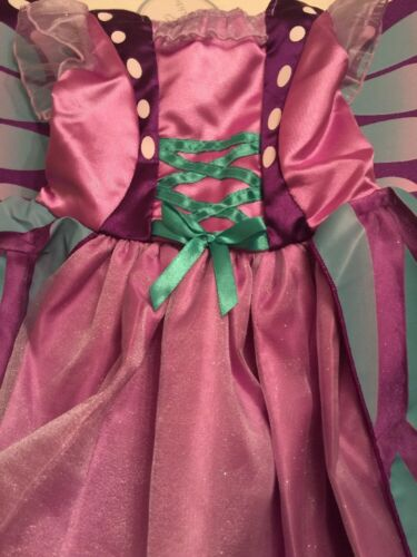 Koala Kids Glitter Lavender Butterfly Costume Dress Gown Halloween Costume NICE!