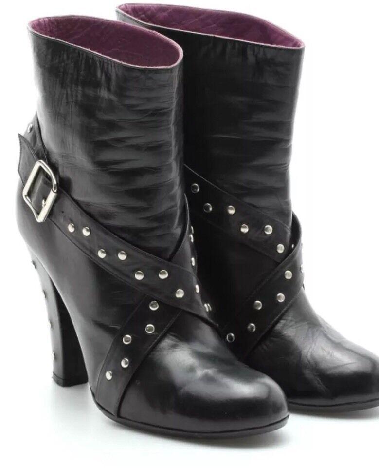 Marc Jacobs Mujer 's High Heel Heel High Boots Morado Marrón Suede talla 36 / 5.5 86b353