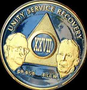 AA-Founders-27-Year-Medallion-Sobriety-Chip-Gold-amp-Ocean-Breeze-Blue-Token-Coin