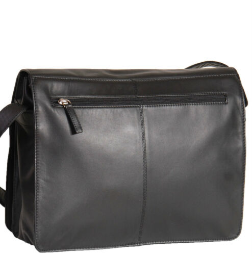 Ladies Shoulder Leather Bag Messenger Cross Body Black Brown Navy Red Handbag
