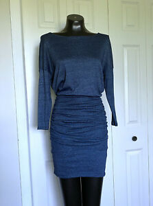 Small-MICHAEL-STARS-Shimmer-Ruched-Dolman-Sleeve-Bodycon-Dress