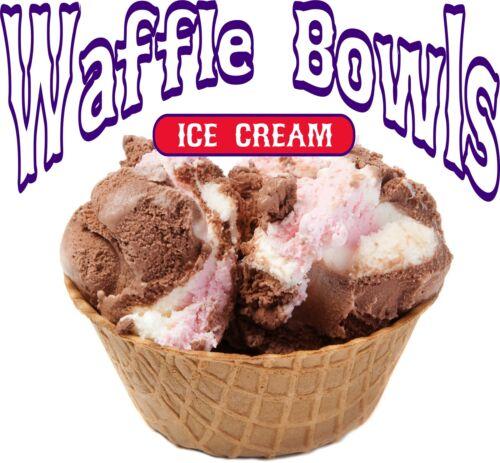 "Waffle Bowls Decal 10/"" Ice Cream Sundae Restaurant Concession Food Truck Sticker"