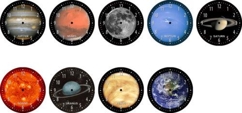 Horloge avec Motif planète de notre système solaire