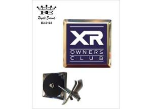 ROYALE STAINLESS CAR GRILL BADGE - FORD XR OWNERS CLUB - B3.0103