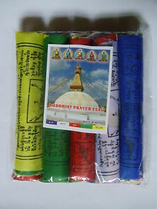 Mini-Tibetan-Buddhist-PRAYER-FLAGS-Pack-of-50