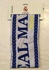 Real Madrid FC Knitted White Scarf Officially Licensed Product