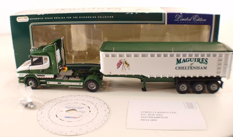 Corgi CC12803 • Scania Bulk Tipper Maguires of Cheltenham 1 50 •en boîte   boxed