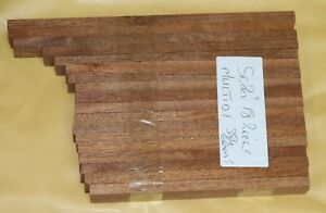 AFRICAN SAPELE MAHOGANY 18 PIECES 2cm X 16 to 22.5cm WOOD HARDWOOD MODEL HOBBY A
