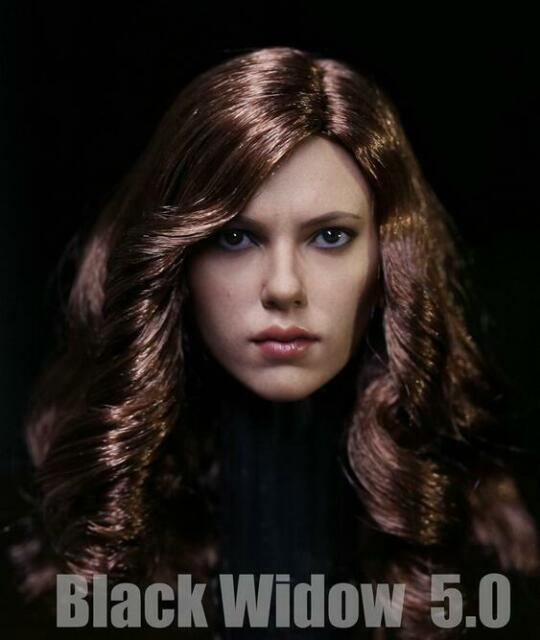 """1:6 Black Widow Leather Jumpsuit for 12/"""" Catwoman Kumik Female Body Hot Toys"""