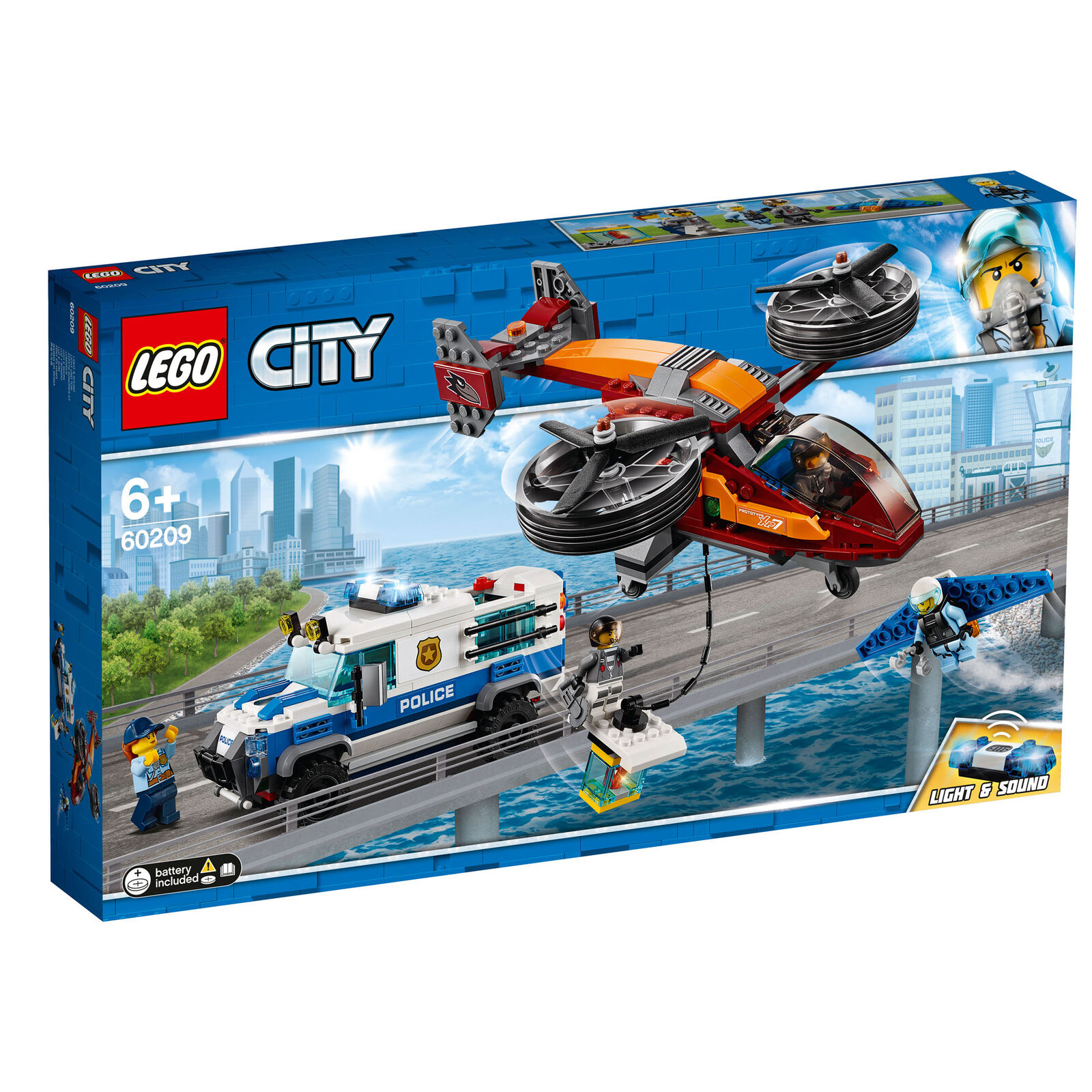 60209 LEGO City Sky police Diamond Heist 400 pieces 6 ans nouvelle version pour 2019