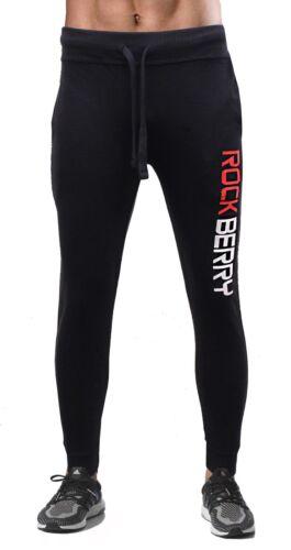 ROKCBERRY Mens Slim Fit Tracksuit Bottoms Skinny Jogging Joggers Sweat Pants