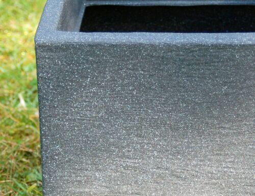Pflanzkübel anthrazit Kubus Kunststoff versch Größen 20,5x20,5 bis 50,5x50,5cm