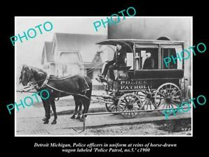 OLD-LARGE-HISTORIC-PHOTO-OF-DETROIT-MICHIGAN-THE-DETROIT-POLICE-WAGON-No5-c1900