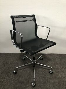 Alu Chair Stuhl Eames Original Vitra Ea 117 Netz Chrom Drehstuhl Bürostuhl Details Zu Top erdoBCxW