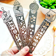 1PCS Paper Clips Ruler Shaped Metal Bookmarks Cute Bookmarks Practical