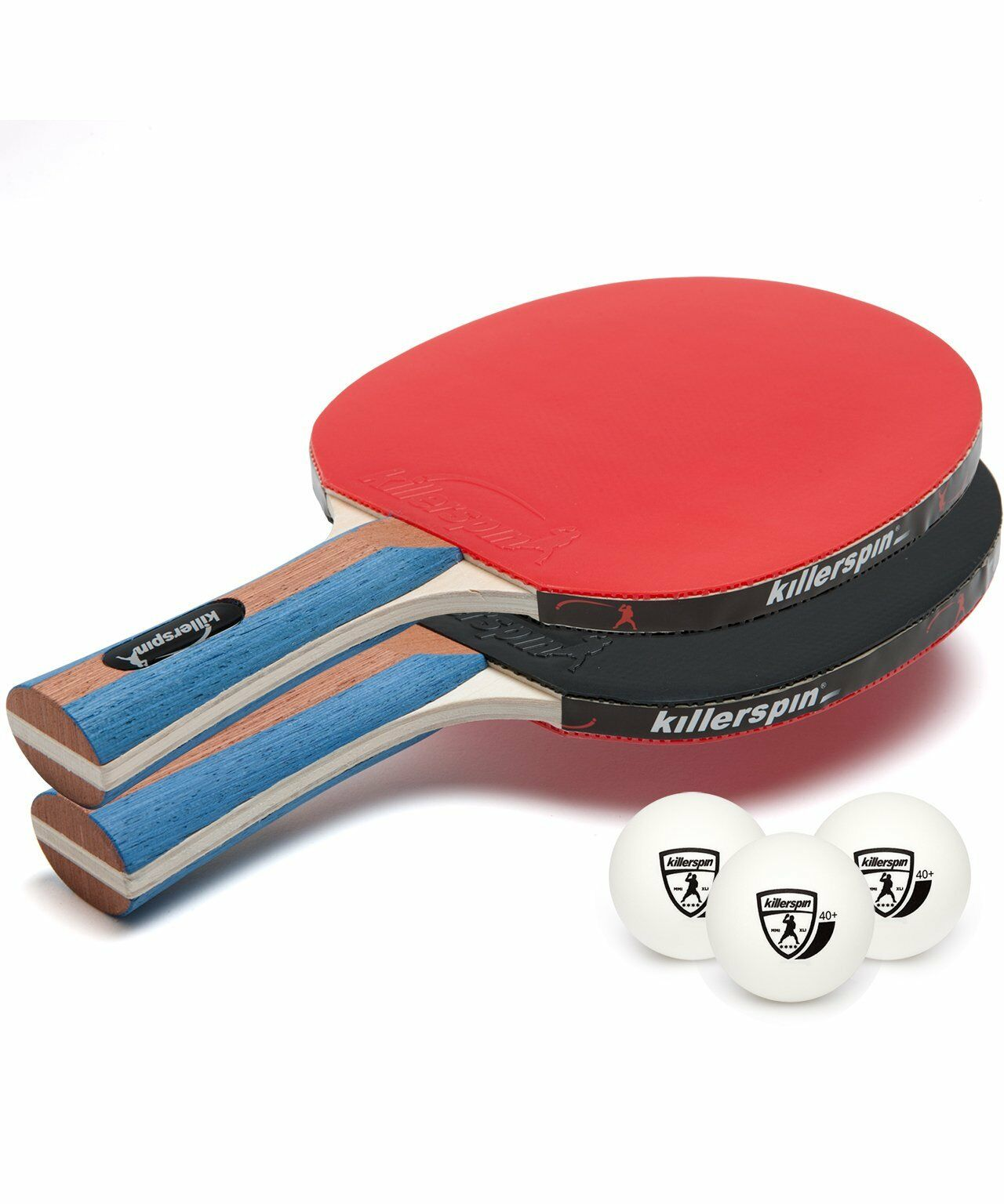 NEW Killerspin 112-01 JET SET 2 Premium Table Tennis Paddle Set with Balls