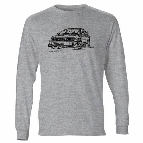JL Illustration For A Mitsubishi EVO VI Tommi Makinen Motorcar Fan LS-Tshirt