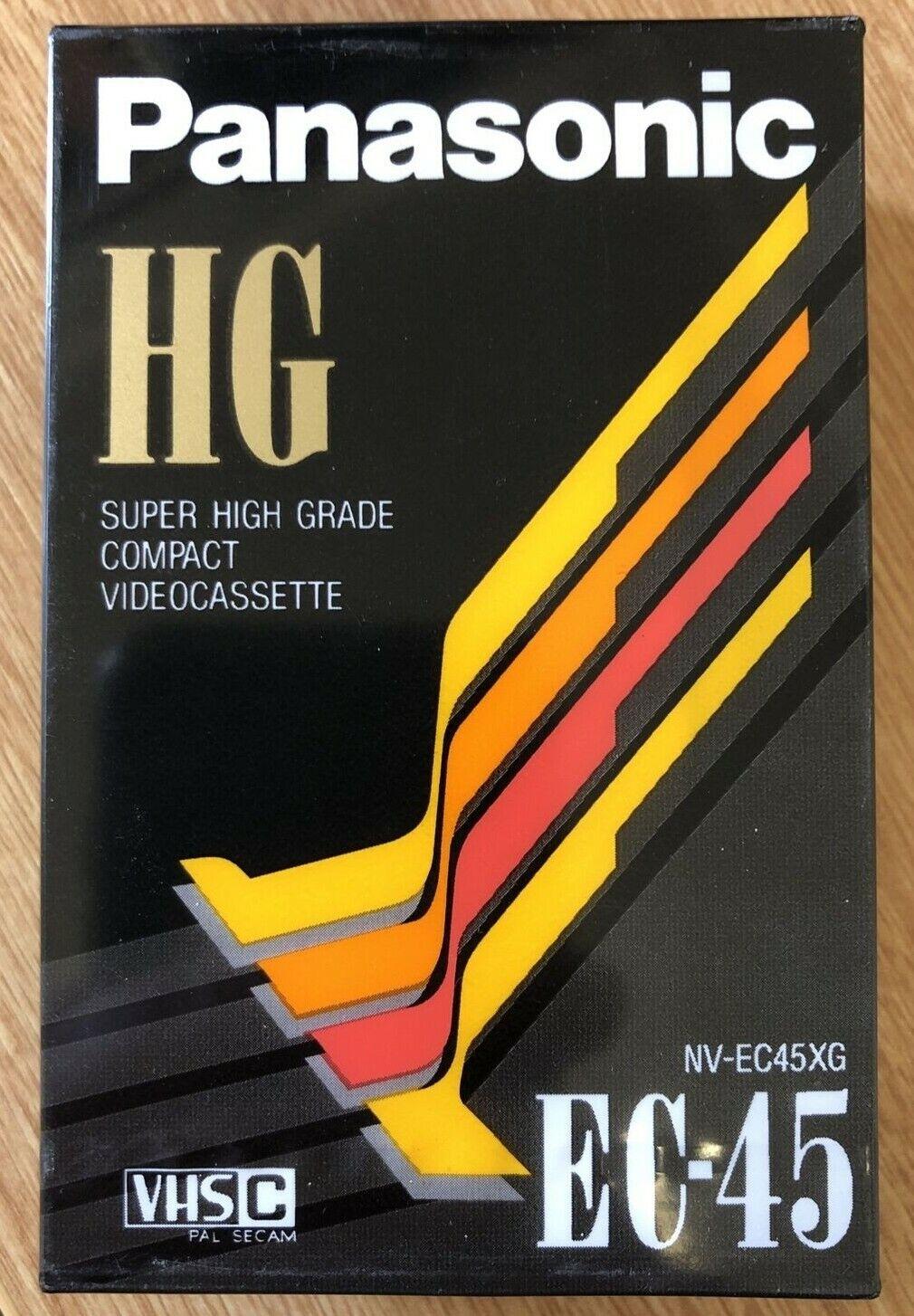 Panasonic HG EC-45 NV-EC45XG Camcorder tape for VHS-C - New Sealed