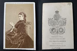 Reutlinger-Paris-Julia-Baron-actrice-Vintage-albumen-print-CDV