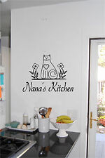Personalized Name & Cat Kitchen Wall Sticker Wall Art Decor Vinyl Decal