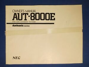 nec aut 8000e tuner owners manual factory original the real thing ebay rh ebay ca Car Owners Manual Car Owners Manual