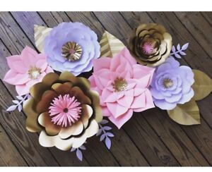 Details About Giant Paper Flowers Large Flowers Nursery Wall Flowers Wedding Photo Backdrops