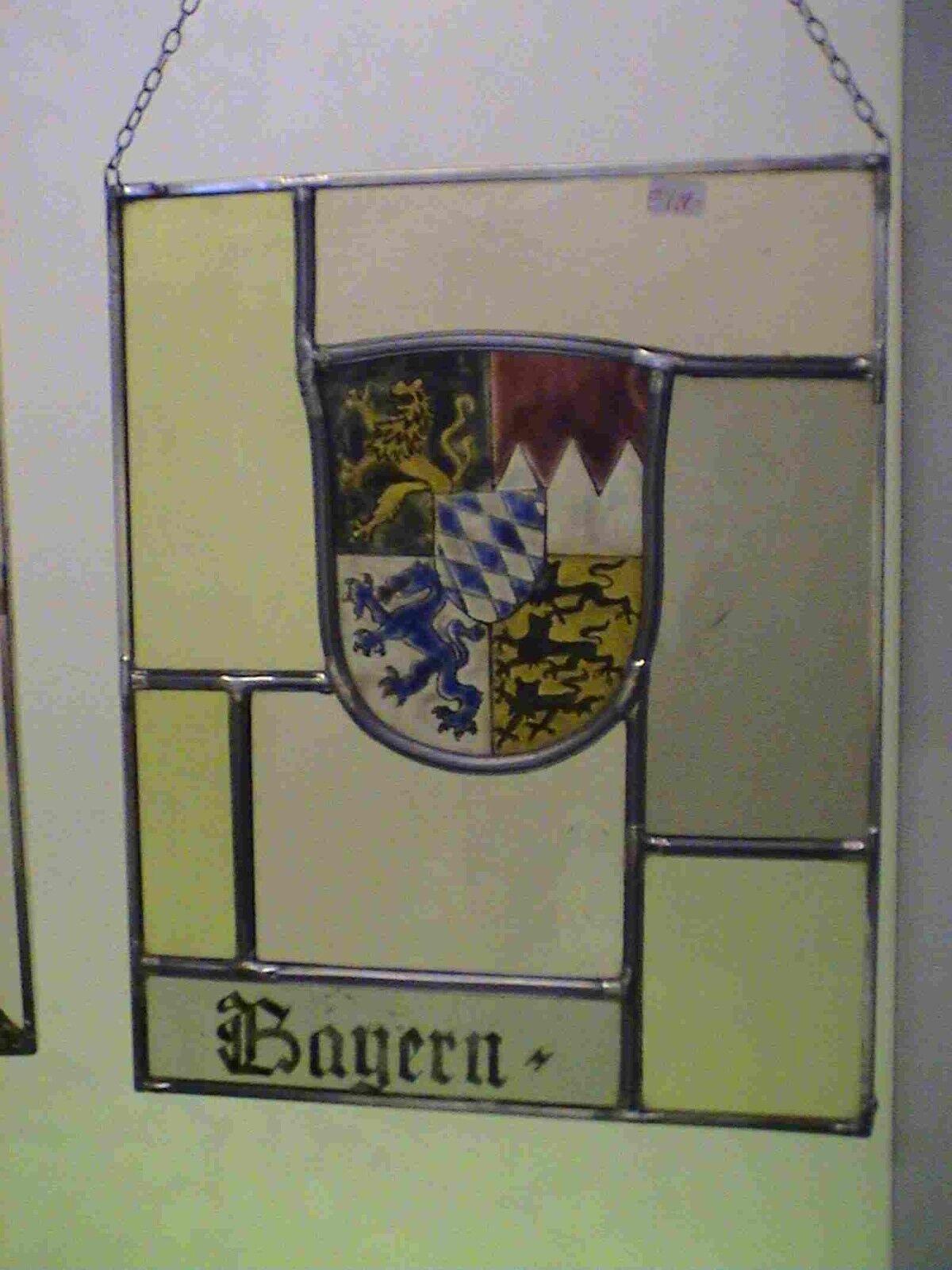 Glasmalerei Fensterbilder Wappen von Bayern