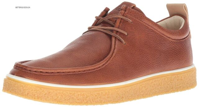ECCO Men Crepetray MOC Toe Derby Shoes Lace up Oxfords Leather Brown ... d440a2fe0ce06