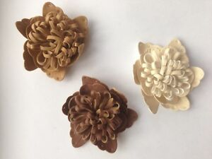 Imitation-of-leather-decorative-flower-craft-embelishment-7-cm-diameter