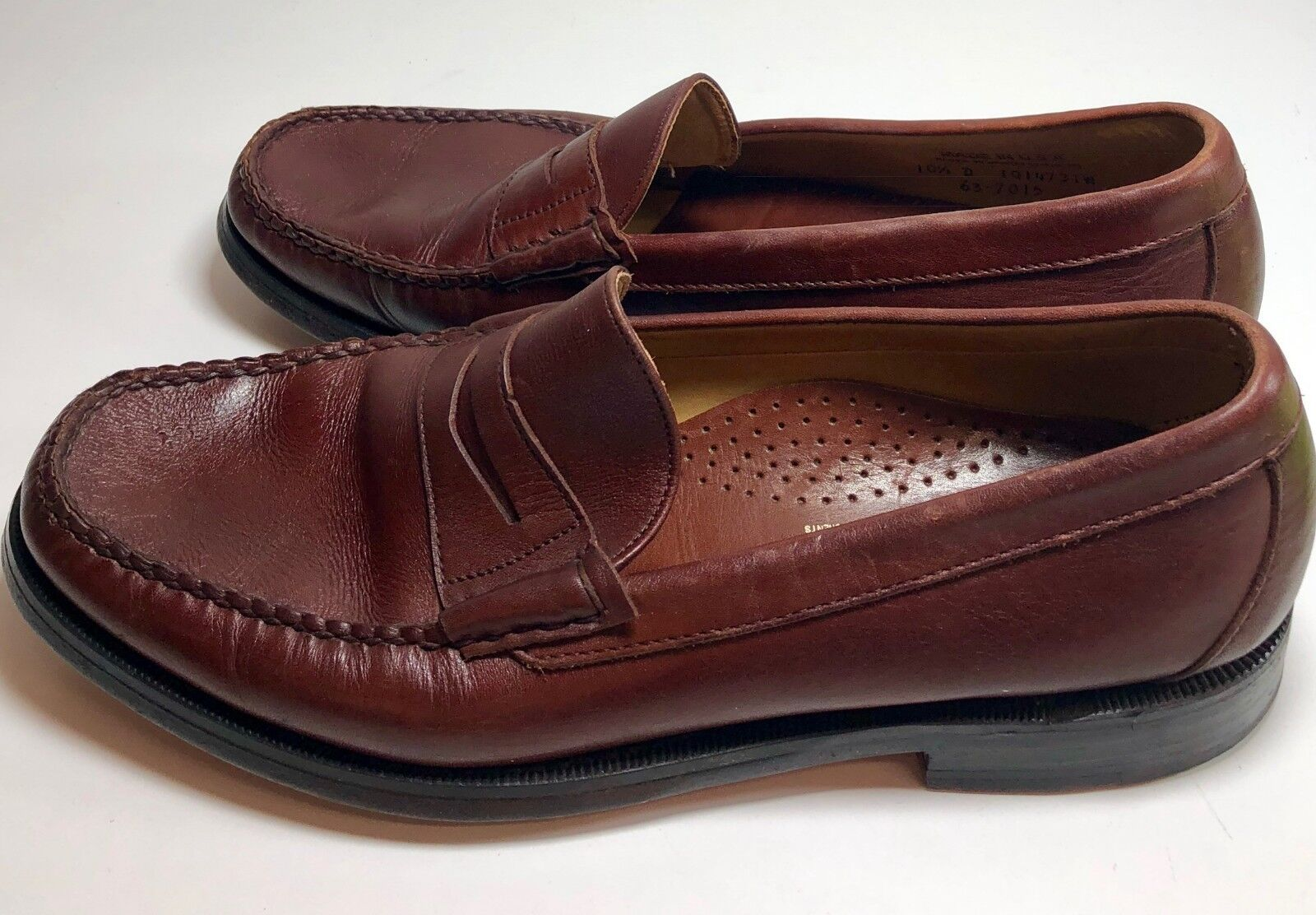 SEBAGO Men's Leather Casual Penny Loafers Brown Dress Slip-On shoes Size 10.5 D