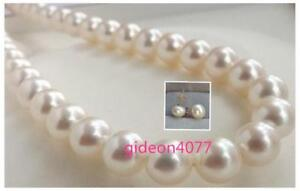 GORGEOUS-9-10MM-AKOYA-WHITE-NATURAL-PEARL-NECKLACE-EARRING-SET-14k-YELLOW-GOL