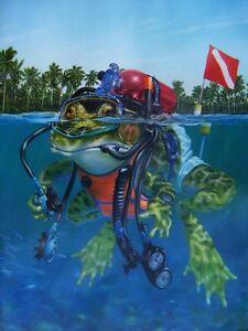 034-MANFROG-034-Rare-scuba-diving-poster-by-Thomas-Gieseke