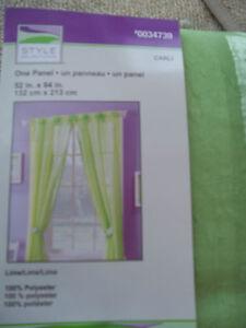 Image Is Loading Kid 039 S Room Kristy Panel Curtain Lime