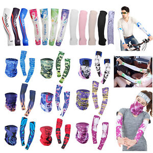 1-Pair-Sun-UV-Protection-Stretch-Sport-Sleeves-Arm-Cover-Fishing-Running-Cycling