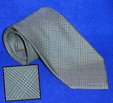 NEW ITALIAN TINO COSMA GREEN GREY BIAS GLEN PLAID SILK COTTON BLEND NECK TIE