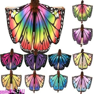 AU-Fabric-Soft-Butterfly-Wings-Shawl-Fairy-Ladies-Nymph-Pixie-Costume-Accessory
