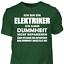 T-Shirt-Elektriker-Dummheit-Lustig-Geschenk-Spruch-Handwerker-Baustelle Indexbild 9