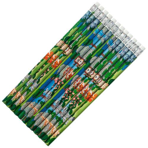 Bleistifte mit Radiergummi Dschungel 18,5cm Radierer Stifte Giveaway Mitgebsel
