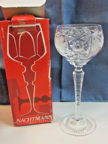 Nachtmann Clear Cut Crystal Wine Glass #3500/9 8.25 NEW IN BOX KH