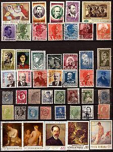 RUMANIA-47-sellos-con-antiguos-tablas-y-personajes-82m138a