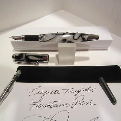 Terzetti Vectors Chrome Metal Rollerball// Fountain Pen iridium M Nib-Gift Box