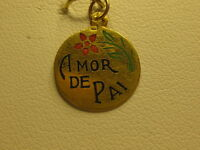 A Portuguese 19.2 Kt Gold Amor De Pai Talking Charm From Portugal 03-0034